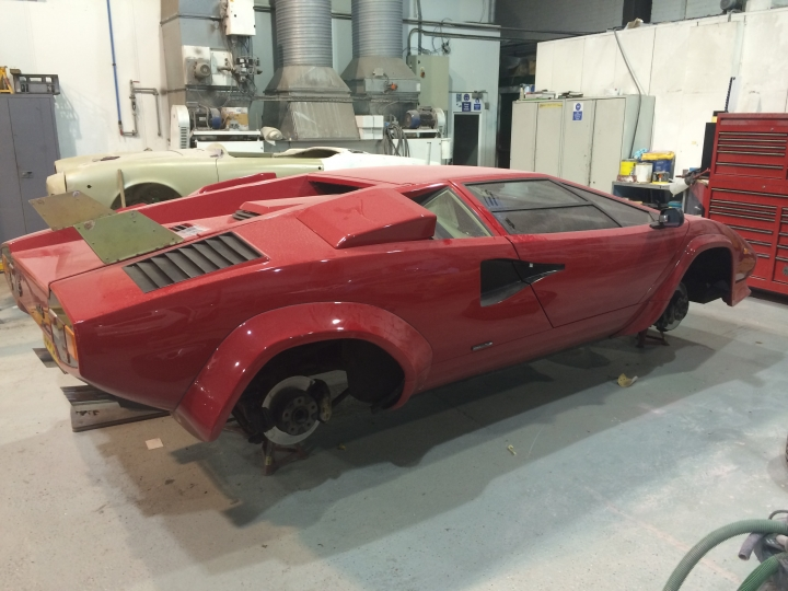 Lamborghini Countach Qv Respray And Video Washington Coachworks